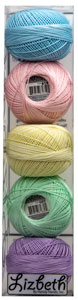 Lizbeth Specialty Pack - Soft Pastels Mix - Size 40