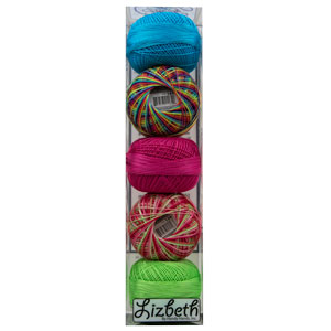 Lizbeth Specialty Pack - Rainbows Mix - Size 10