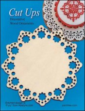 Cut-Up Wood Lace Ornament, Style E