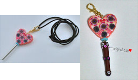 Crochet Hook Chatelaine - Heart - 0.5mm