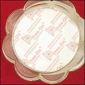 Acrylic Coaster, Scalloped Round