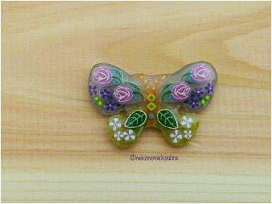 Japanese Tatting Shuttle - Small Butterfly (Flat)