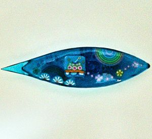 Japanese Tatting Shuttle - Lg. UFO